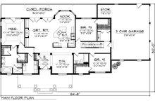 Country Floor Plan - Main Floor Plan Plan #70-1050