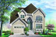 European Style House Plan - 3 Beds 2.5 Baths 1745 Sq/Ft Plan #23-359 Exterior - Front Elevation