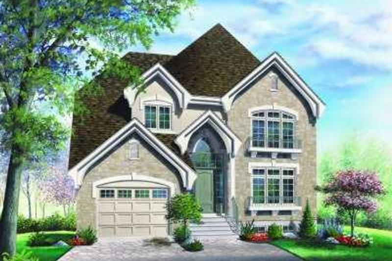 House Plan Design - European Exterior - Front Elevation Plan #23-359