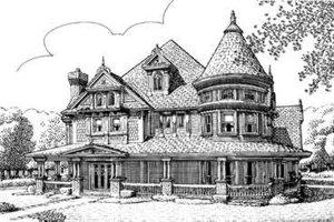 Victorian Exterior - Front Elevation Plan #410-117