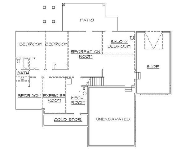 House Plan Design - Traditional Floor Plan - Lower Floor Plan #5-245