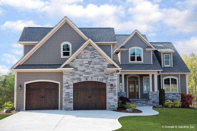 Architectural House Design - European Exterior - Front Elevation Plan #929-1033