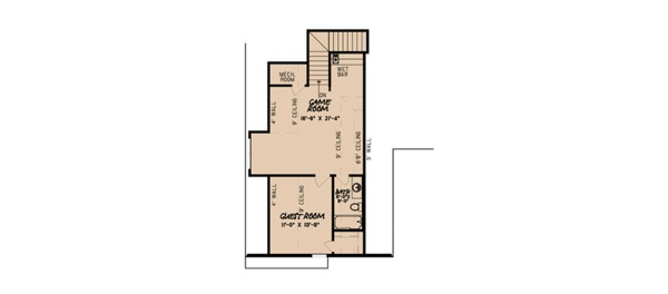 European Floor Plan - Upper Floor Plan Plan #923-87