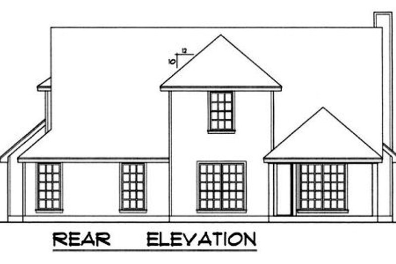 Country Exterior - Rear Elevation Plan #40-329 - Houseplans.com
