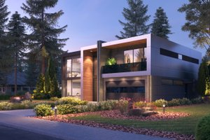 Contemporary Exterior - Other Elevation Plan #1066-102