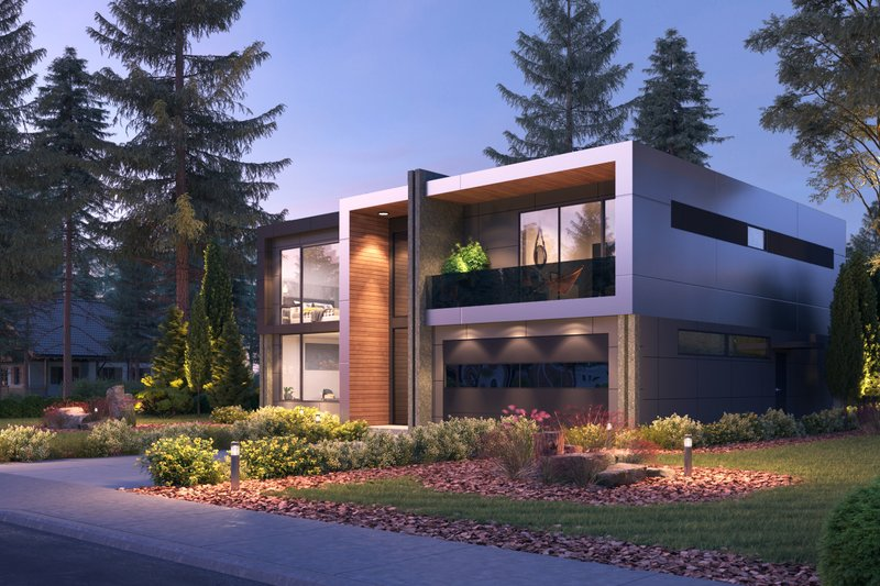 Dream House Plan - Contemporary Exterior - Other Elevation Plan #1066-102