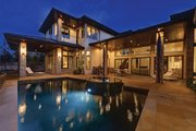 Contemporary Style House Plan - 4 Beds 4 Baths 4237 Sq/Ft Plan #935-5 Exterior - Rear Elevation