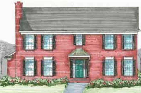 Colonial Exterior - Front Elevation Plan #136-106