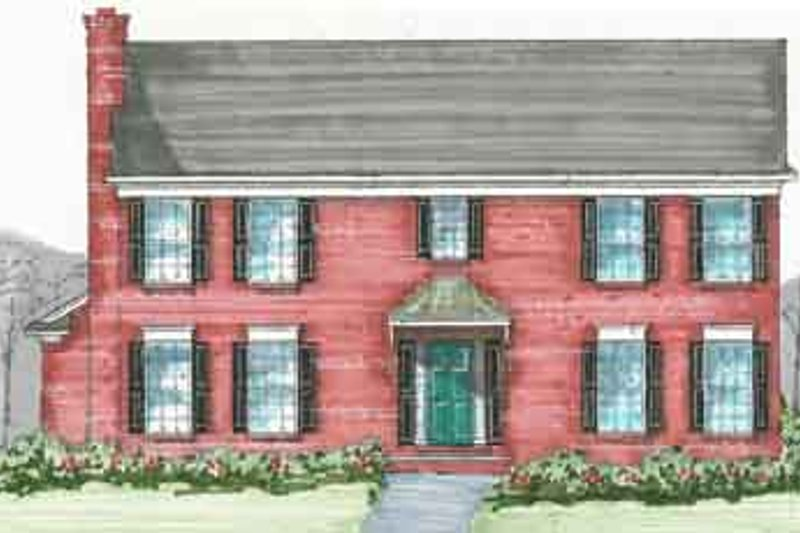 Colonial Style House Plan - 3 Beds 2.5 Baths 2304 Sq/Ft Plan #136-106