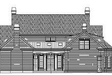 Classical Exterior - Rear Elevation Plan #119-252