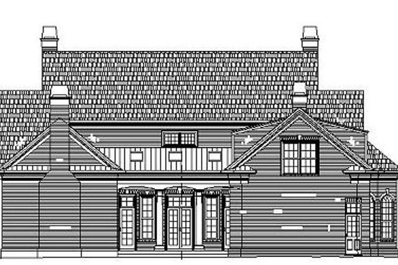 Classical Exterior - Rear Elevation Plan #119-252 - Houseplans.com