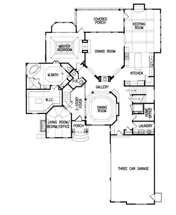 Architectural House Design - Traditional Floor Plan - Main Floor Plan #54-410