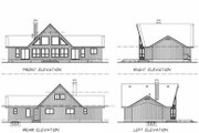 Cabin Style House Plan - 3 Beds 2 Baths 1659 Sq/Ft Plan #47-437 Exterior - Rear Elevation