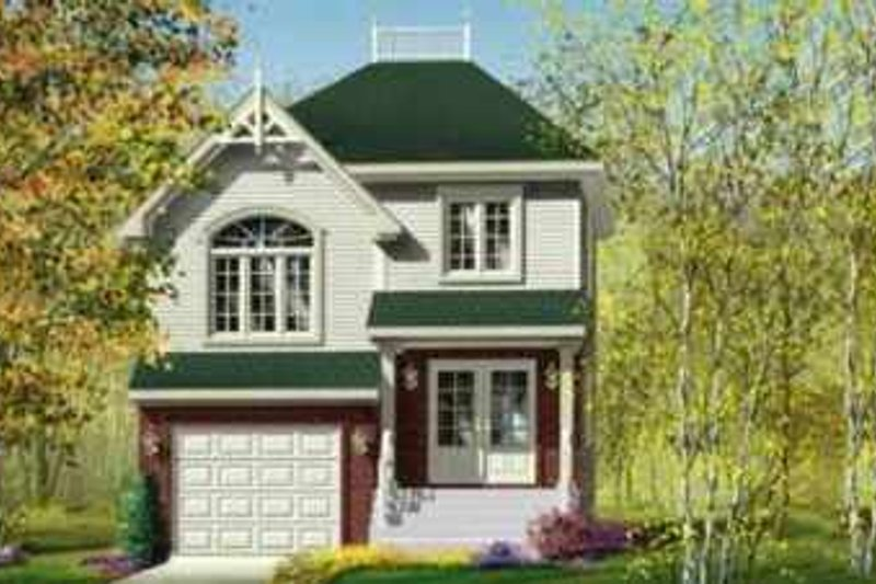 Victorian Style House Plan - 2 Beds 1.5 Baths 1285 Sq/Ft Plan #25-292 Exterior - Front Elevation