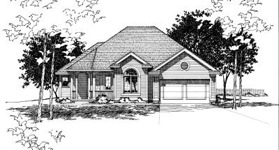 Traditional Exterior - Front Elevation Plan #20-152 - Houseplans.com