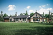 Craftsman Style House Plan - 4 Beds 2 Baths 3259 Sq/Ft Plan #124-1202 Exterior - Front Elevation