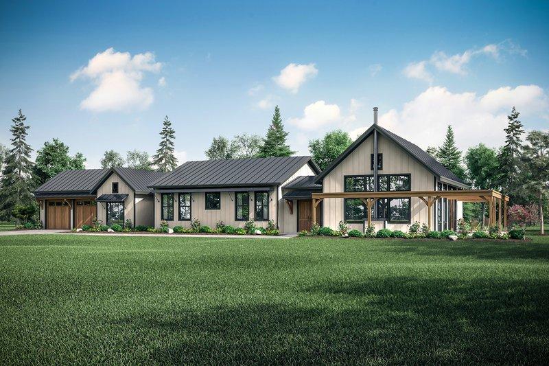 Architectural House Design - Craftsman Exterior - Front Elevation Plan #124-1202