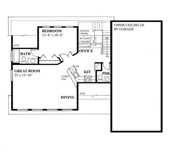 Country Floor Plan - Upper Floor Plan Plan #118-139