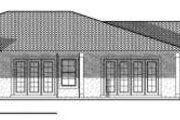 Mediterranean Style House Plan - 3 Beds 3.5 Baths 3002 Sq/Ft Plan #70-719 Exterior - Rear Elevation