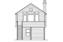 Architectural House Design - Craftsman Exterior - Rear Elevation Plan #48-312
