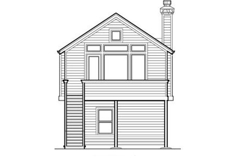Craftsman Exterior - Rear Elevation Plan #48-312 - Houseplans.com