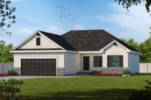 Craftsman Exterior - Front Elevation Plan #20-2181