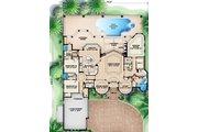 Mediterranean Style House Plan - 3 Beds 3.5 Baths 3218 Sq/Ft Plan #27-442 Floor Plan - Main Floor Plan
