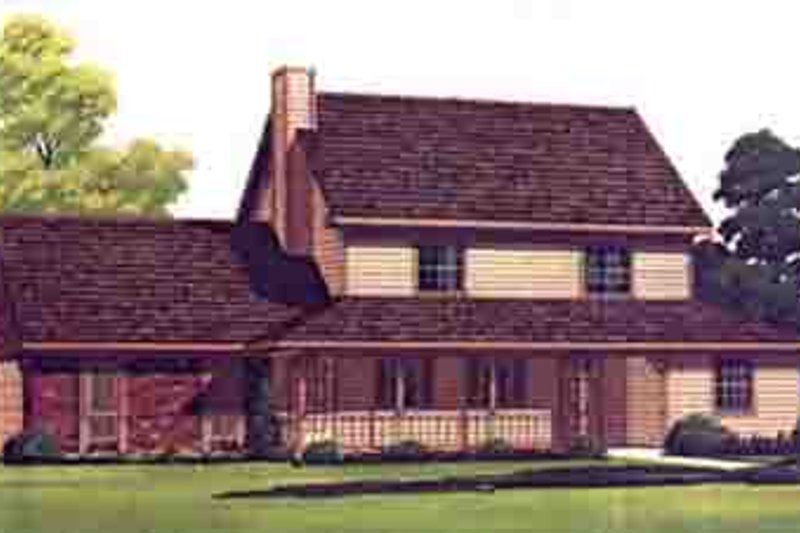 Traditional Style House Plan - 3 Beds 2 Baths 1487 Sq/Ft Plan #45-288 Exterior - Front Elevation