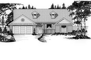 Home Plan Design - Traditional Exterior - Front Elevation Plan #62-105