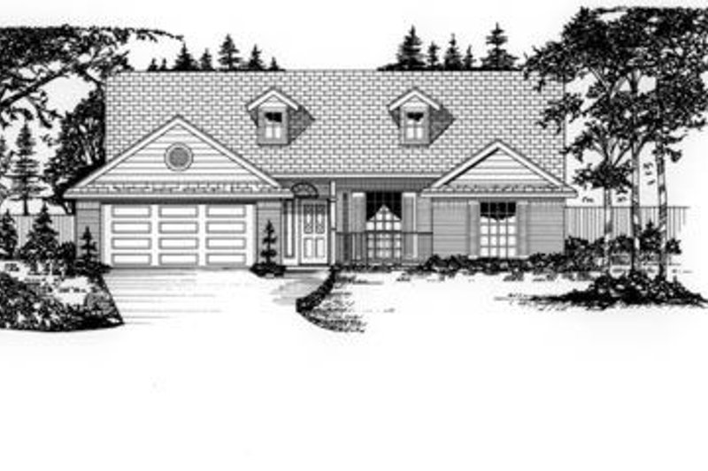 Traditional Exterior - Front Elevation Plan #62-105