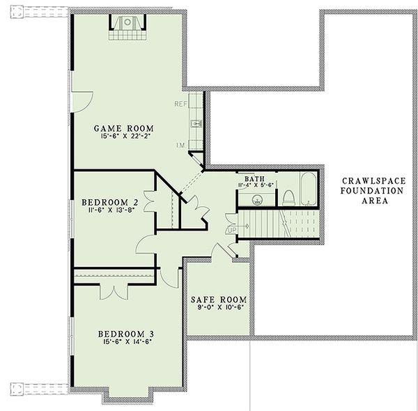 European Floor Plan - Upper Floor Plan Plan #17-2479