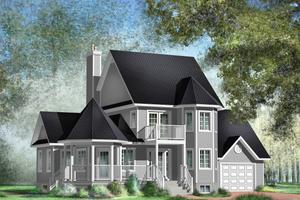 Victorian Exterior - Front Elevation Plan #25-4742