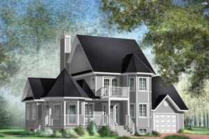 Victorian Exterior - Front Elevation Plan #25-4742