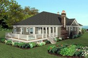 Craftsman Style House Plan - 3 Beds 3.5 Baths 2367 Sq/Ft Plan #56-700 Exterior - Rear Elevation