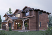 Traditional Style House Plan - 4 Beds 3 Baths 3501 Sq/Ft Plan #1066-68 Exterior - Other Elevation