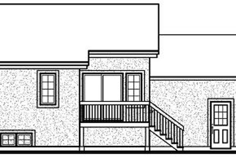 European Exterior - Rear Elevation Plan #23-708 - Houseplans.com