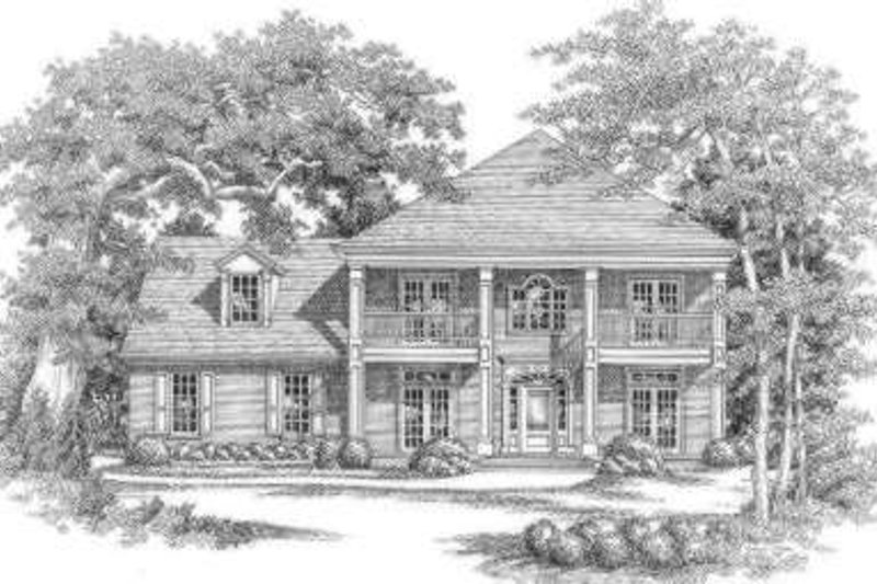 Southern Exterior - Front Elevation Plan #325-250 - Houseplans.com