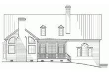 Dream House Plan - Colonial Exterior - Rear Elevation Plan #137-101