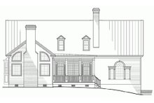 Colonial Exterior - Rear Elevation Plan #137-101