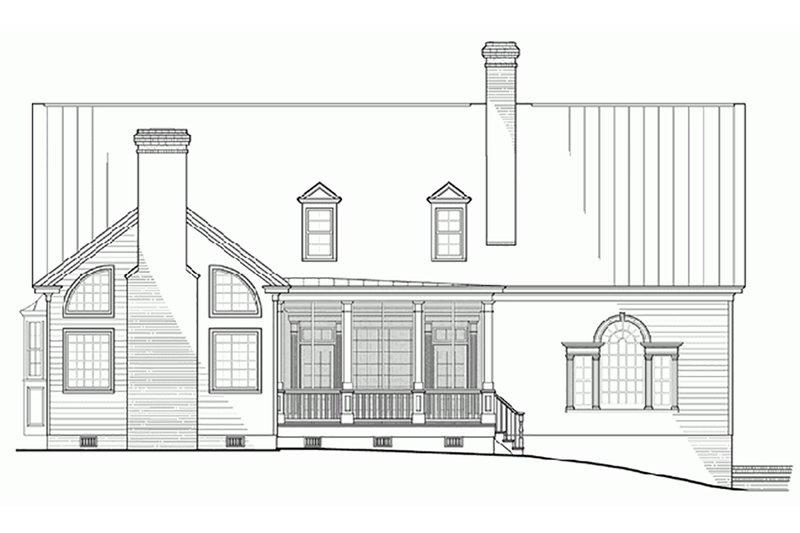 Colonial Exterior - Rear Elevation Plan #137-101 - Houseplans.com