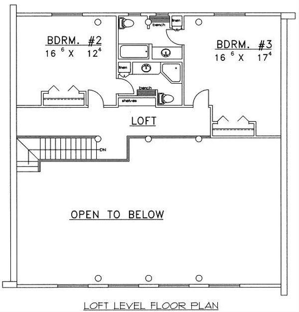 Log Floor Plan - Upper Floor Plan Plan #117-501