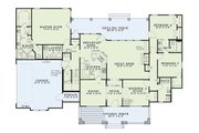 Country Style House Plan - 4 Beds 3 Baths 2373 Sq/Ft Plan #17-421 Floor Plan - Main Floor Plan