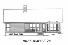 Home Plan - Traditional Exterior - Rear Elevation Plan #22-105