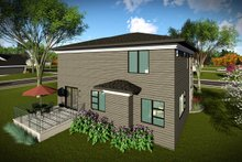 House Plan Design - Modern Exterior - Rear Elevation Plan #70-1465