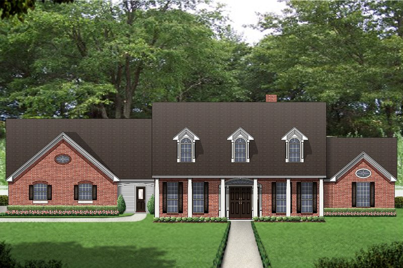 Country Exterior - Front Elevation Plan #84-432