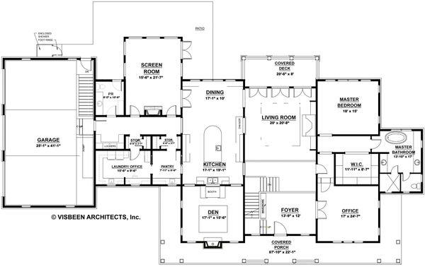 Country Floor Plan - Main Floor Plan #928-276