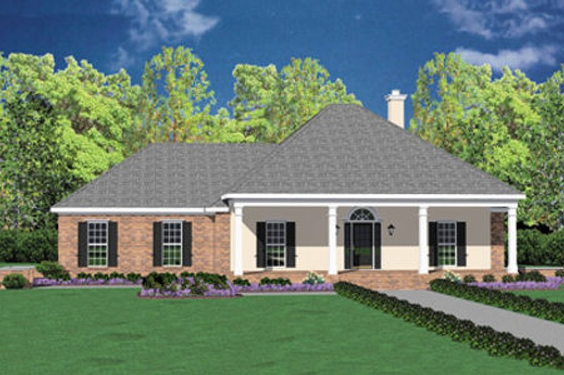 Southern Style House Plan - 3 Beds 2 Baths 2255 Sq/Ft Plan #36-201 Exterior - Front Elevation