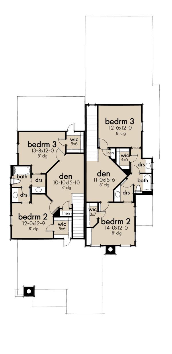 Dream House Plan - Cottage Floor Plan - Upper Floor Plan #120-267