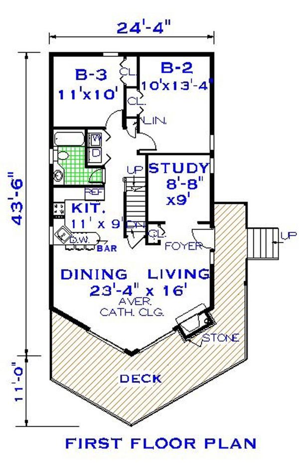 House Plan Design - European Floor Plan - Main Floor Plan #3-339