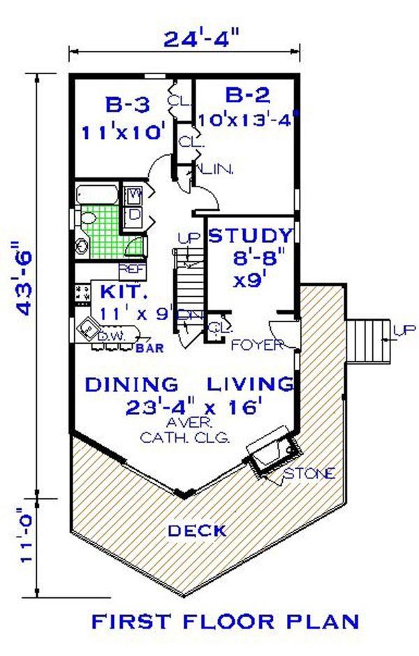 Home Plan - European Floor Plan - Main Floor Plan #3-339